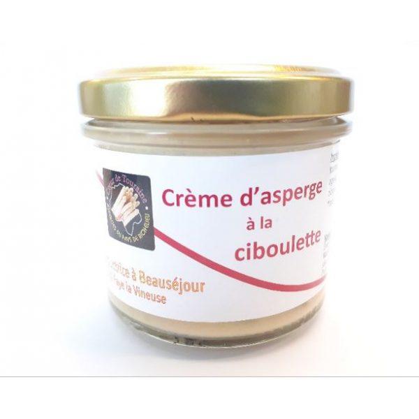 Crème d'asperge bio ciboulette