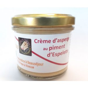 Crème d'asperge piment d'espelette