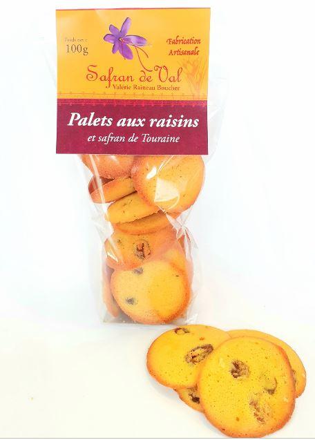 Palets aux raisins au safran